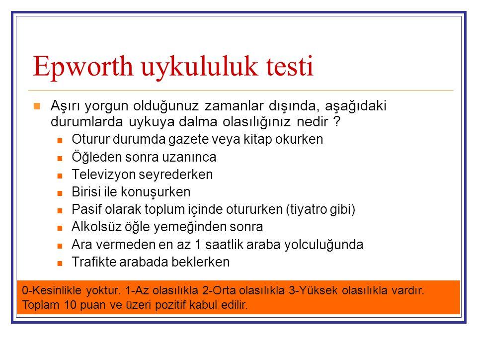 Epworth uykululuk testi