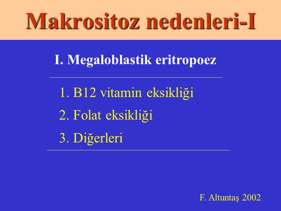 Makrositoz nedenleri-I