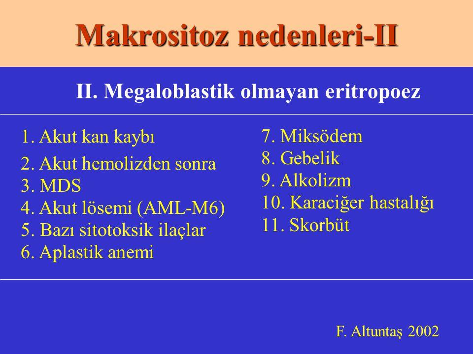 Makrositoz nedenleri-II