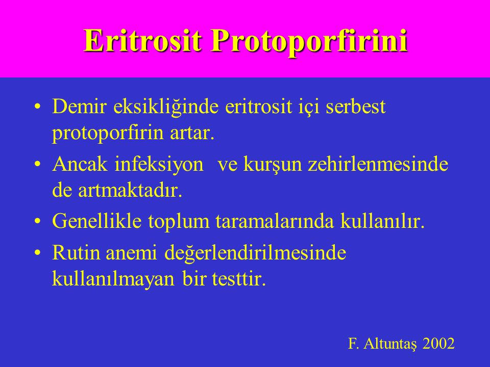 Eritrosit Protoporfirini