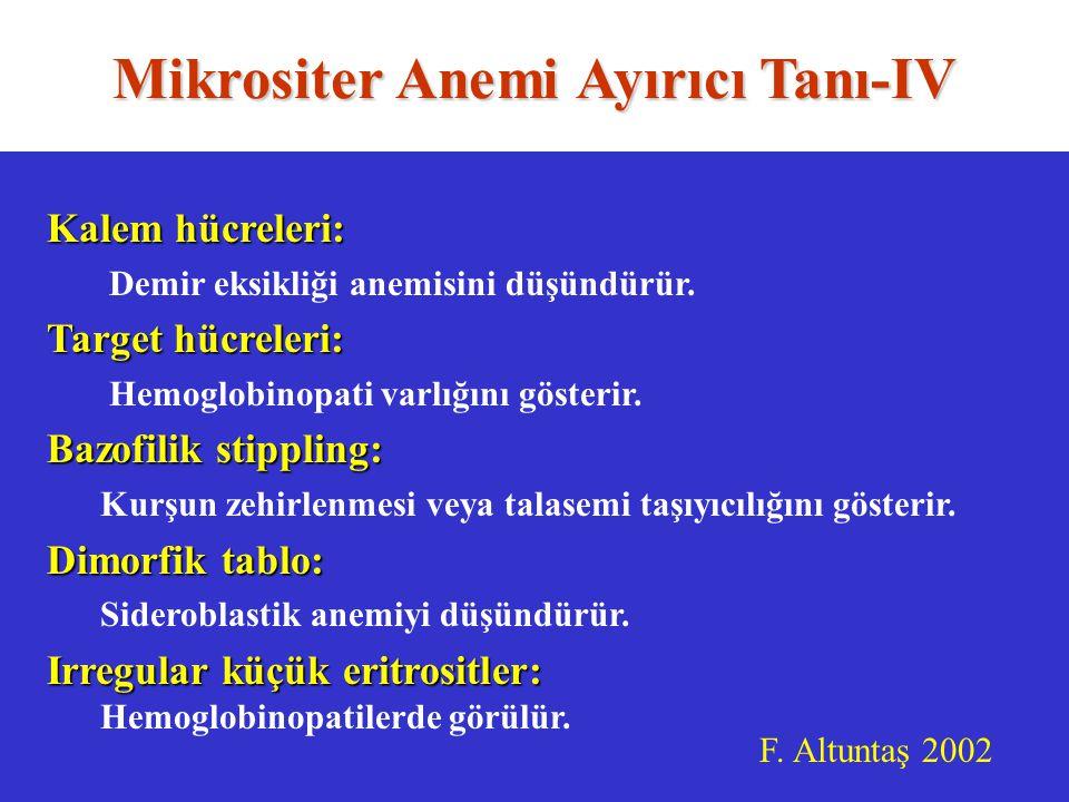 Mikrositer Anemi Ayırıcı Tanı-IV