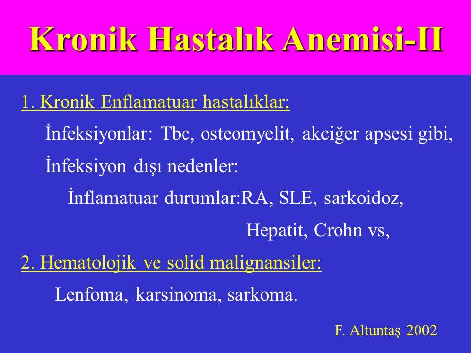 Kronik Hastalık Anemisi-II