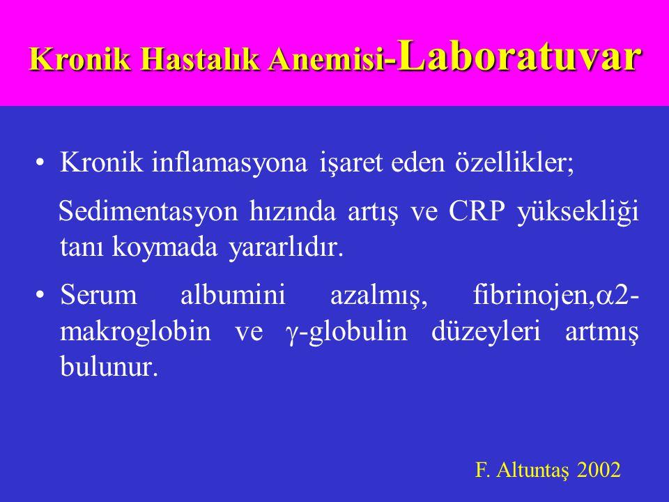 Kronik Hastalık Anemisi-Laboratuvar