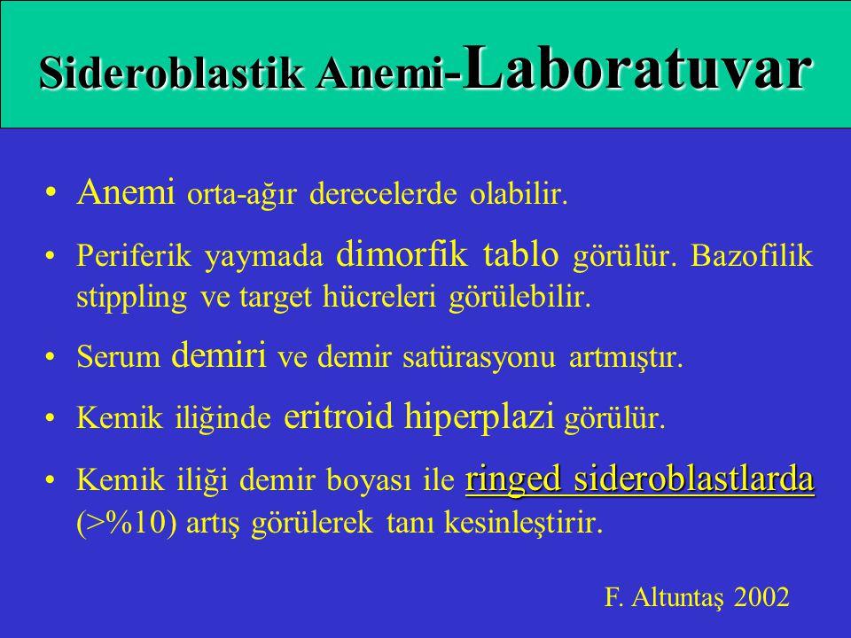Sideroblastik Anemi-Laboratuvar