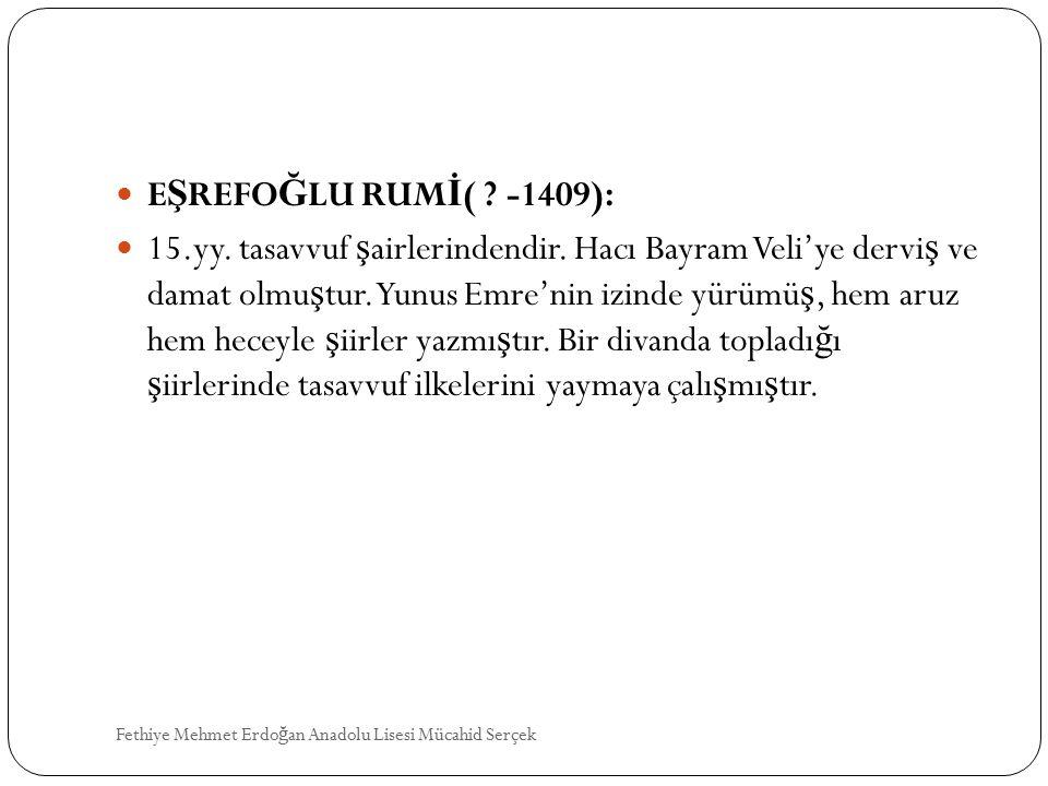 EŞREFOĞLU RUMİ( -1409):