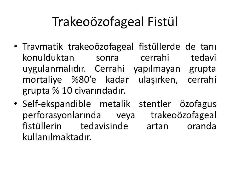 Trakeoözofageal Fistül