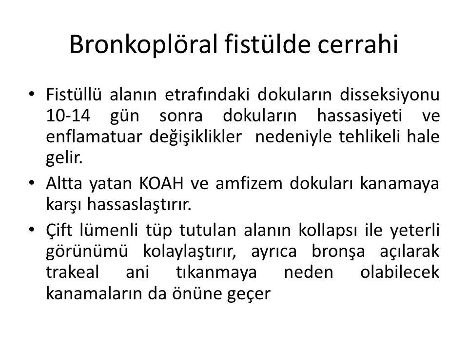 Bronkoplöral fistülde cerrahi