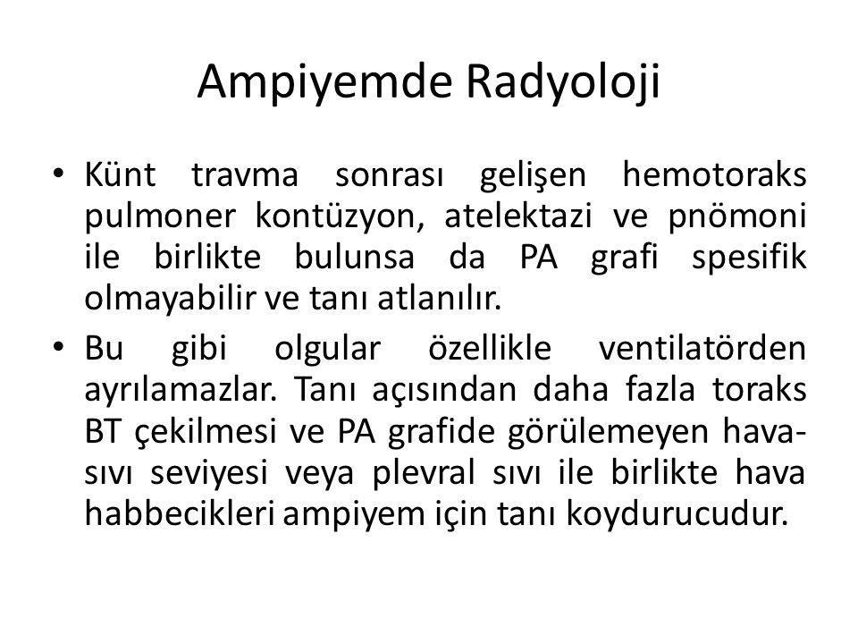 Ampiyemde Radyoloji
