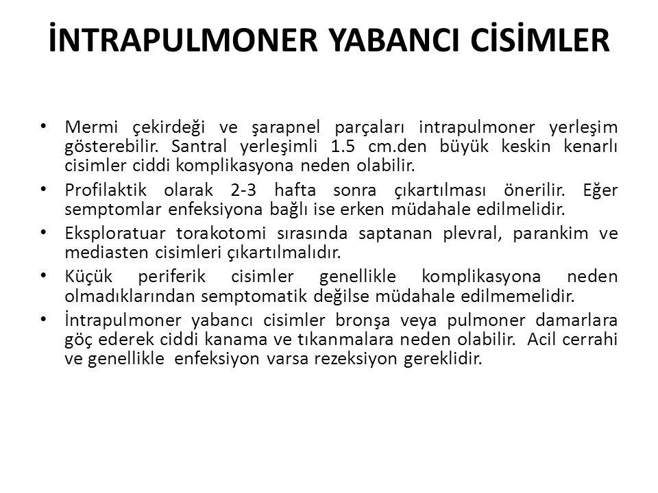 İNTRAPULMONER YABANCI CİSİMLER