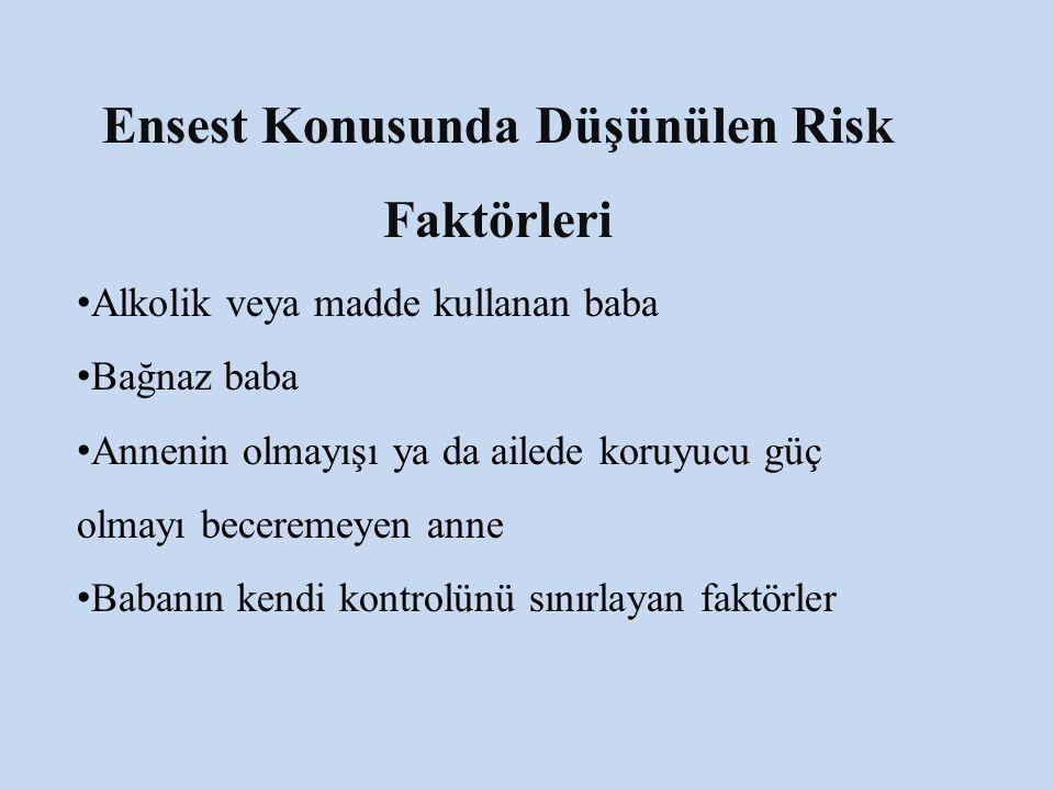 Ensest Konusunda Düşünülen Risk Faktörleri