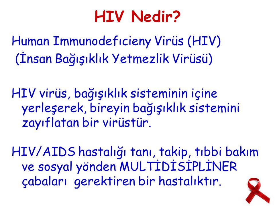 HIV Nedir Human Immunodefıcieny Virüs (HIV)