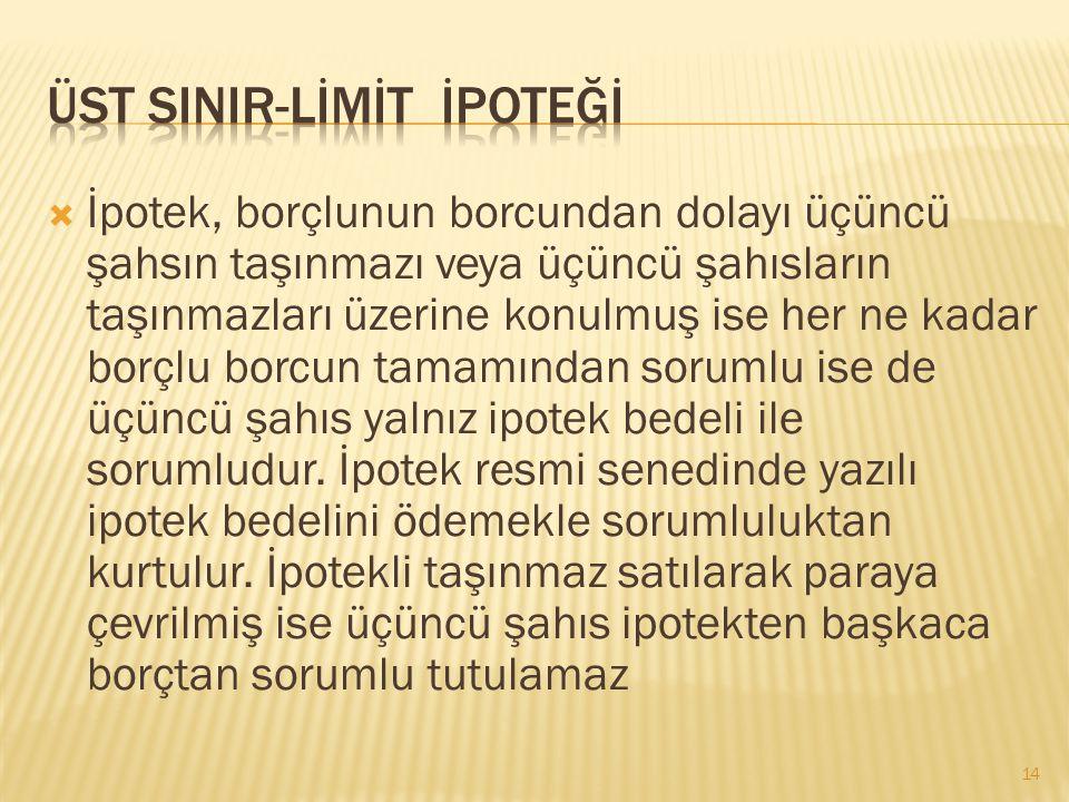 ÜST SINIR-LİMİT İPOTEĞİ