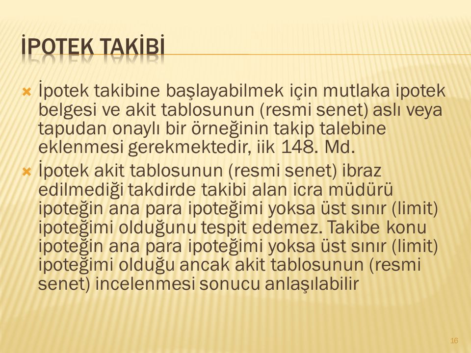 İPOTEK TAKİBİ