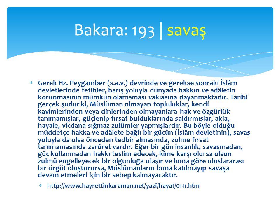 Bakara: 193 | savaş