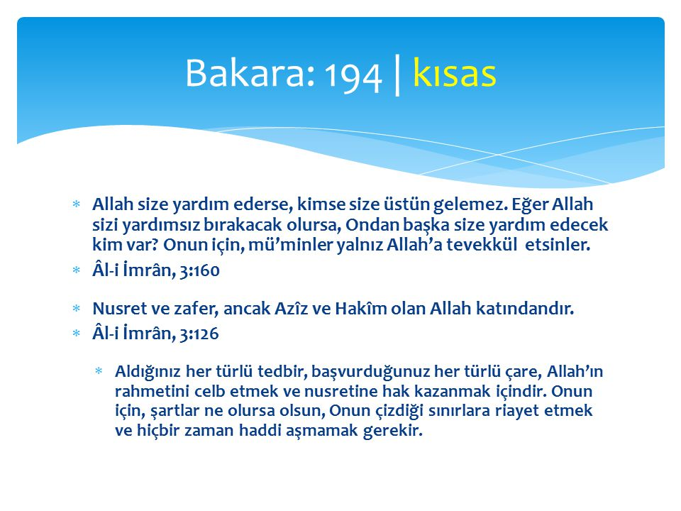 Bakara: 194 | kısas