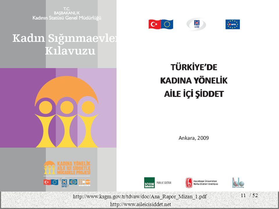 http://www.ksgm.gov.tr/tdvaw/doc/Ana_Rapor_Mizan_1.pdf / 52 http://www.aileicisiddet.net