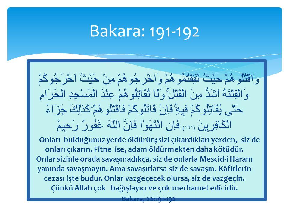 Bakara: 191-192