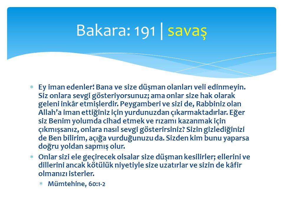 Bakara: 191 | savaş