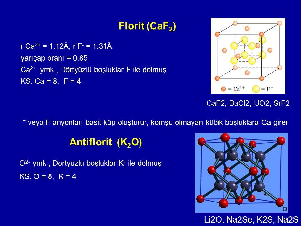 Florit (CaF2) Antiflorit (K2O) Li2O, Na2Se, K2S, Na2S