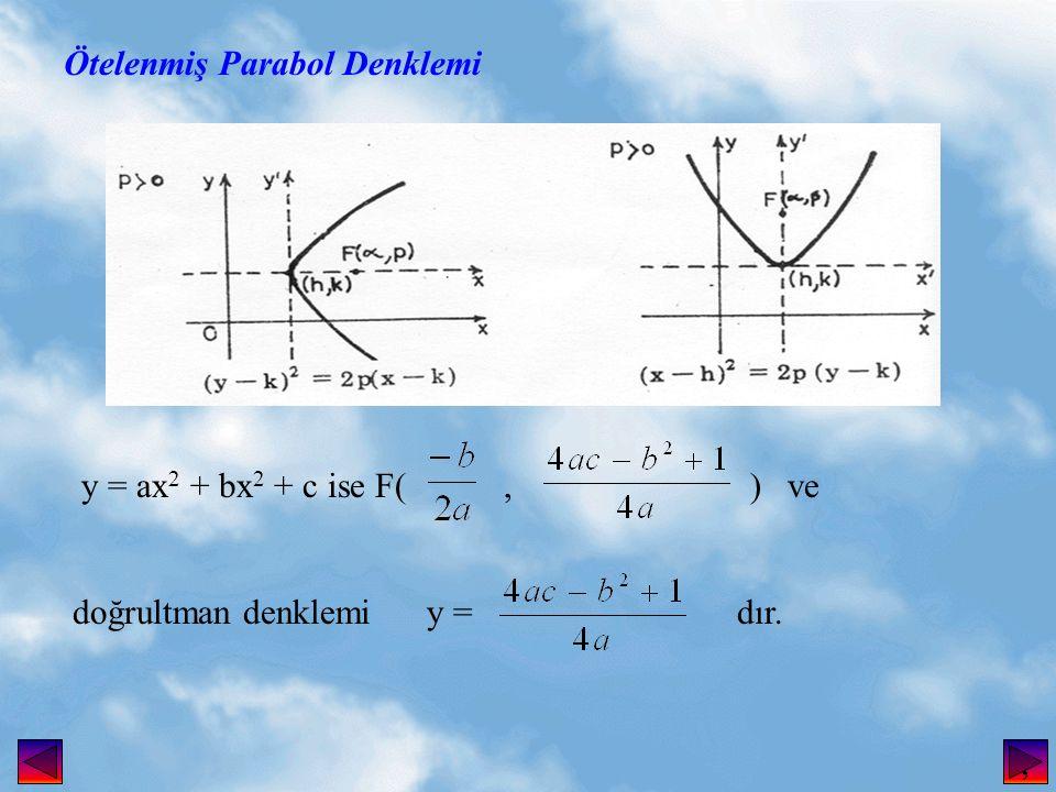 Ötelenmiş Parabol Denklemi