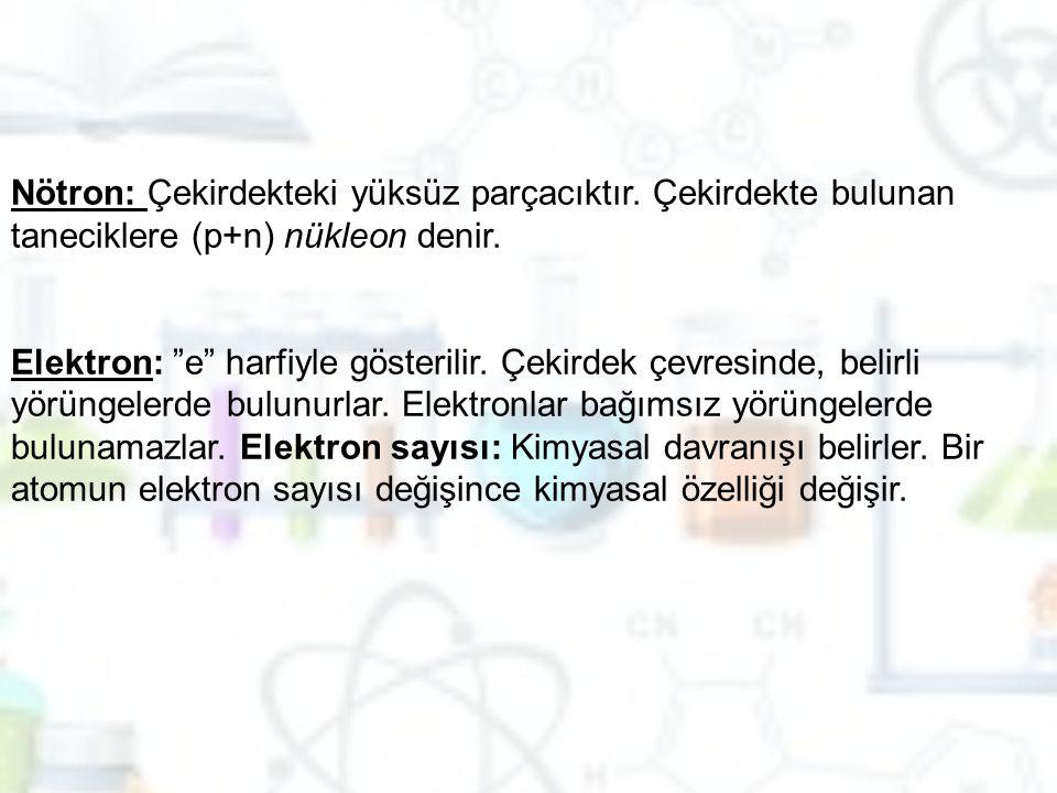 Nötron: Çekirdekteki yüksüz parçacıktır