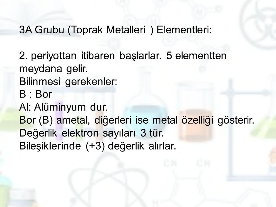 3A Grubu (Toprak Metalleri ) Elementleri: 2