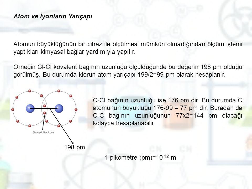 Atom ve İyonların Yarıçapı