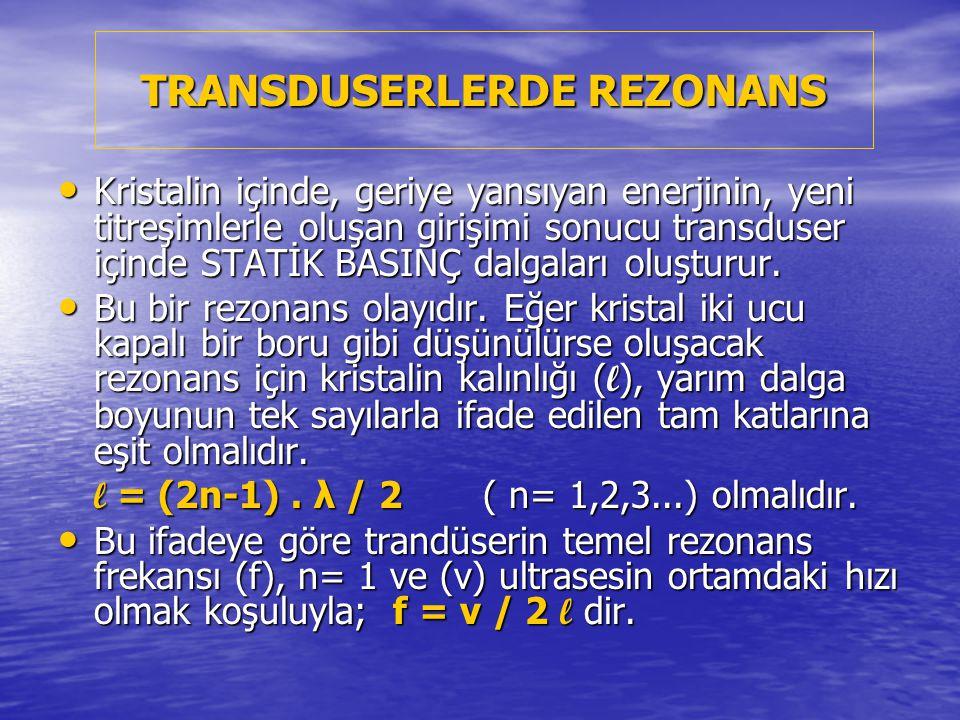 TRANSDUSERLERDE REZONANS