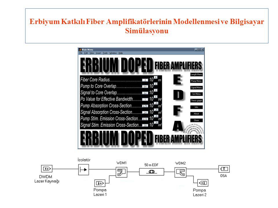 Erbiyum Katkılı Fiber Amplifikatörlerinin Modellenmesi ve Bilgisayar Simülasyonu