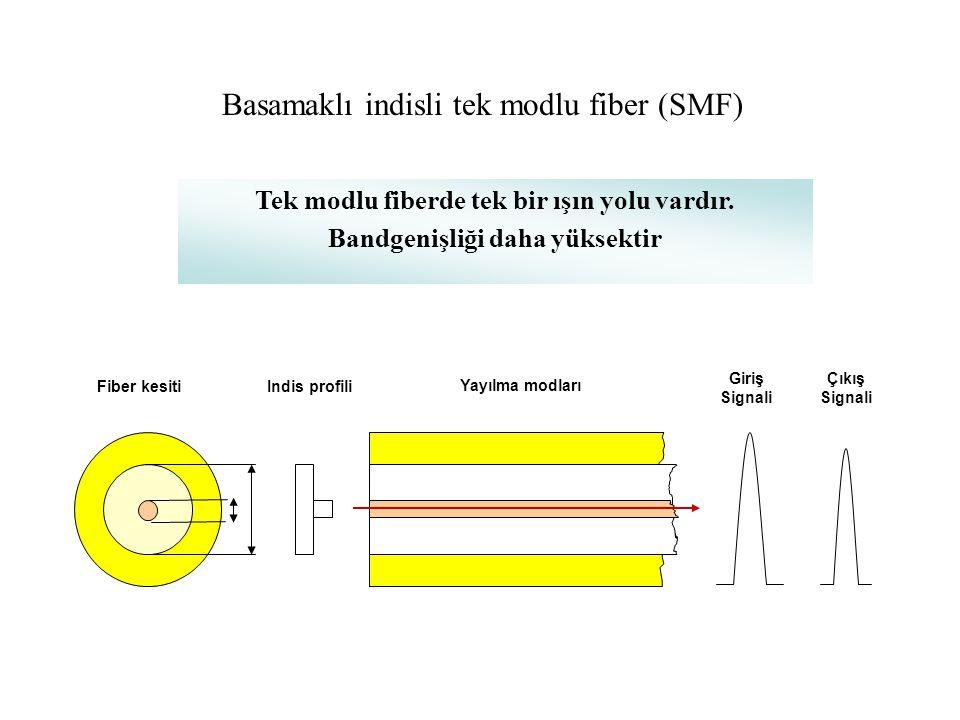 Basamaklı indisli tek modlu fiber (SMF)