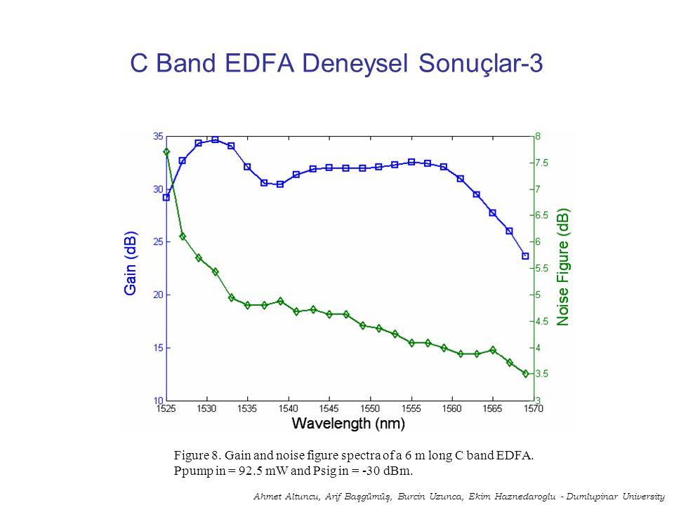 C Band EDFA Deneysel Sonuçlar-3