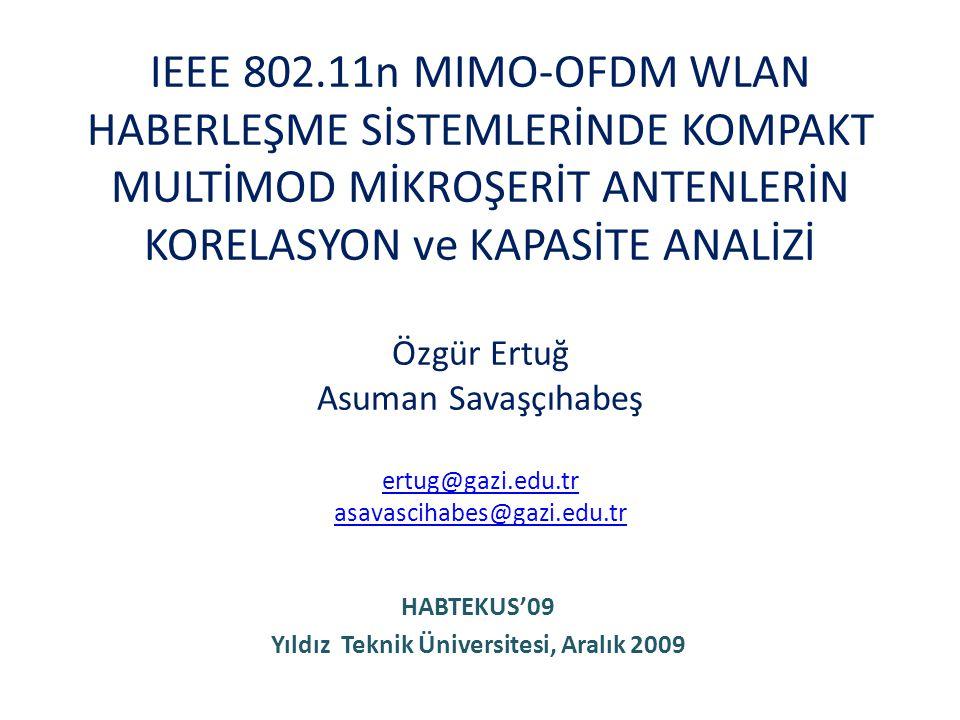 HABTEKUS'09 Yıldız Teknik Üniversitesi, Aralık 2009