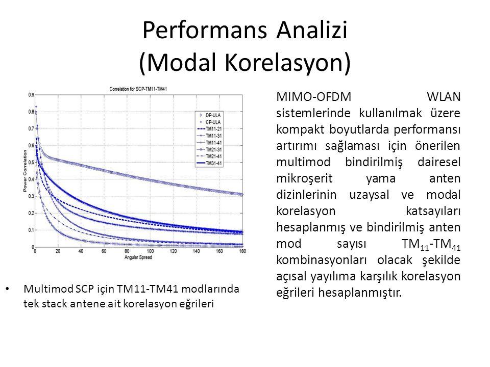 Performans Analizi (Modal Korelasyon)