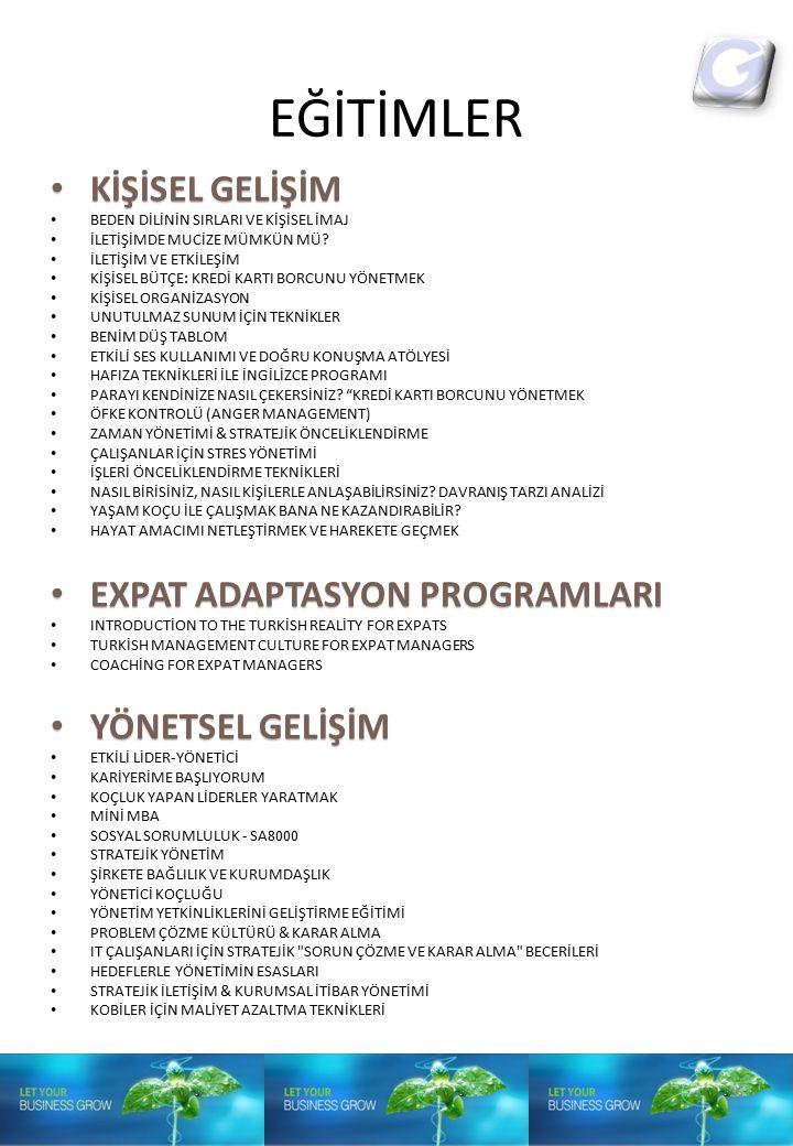 EĞİTİMLER KİŞİSEL GELİŞİM EXPAT ADAPTASYON PROGRAMLARI