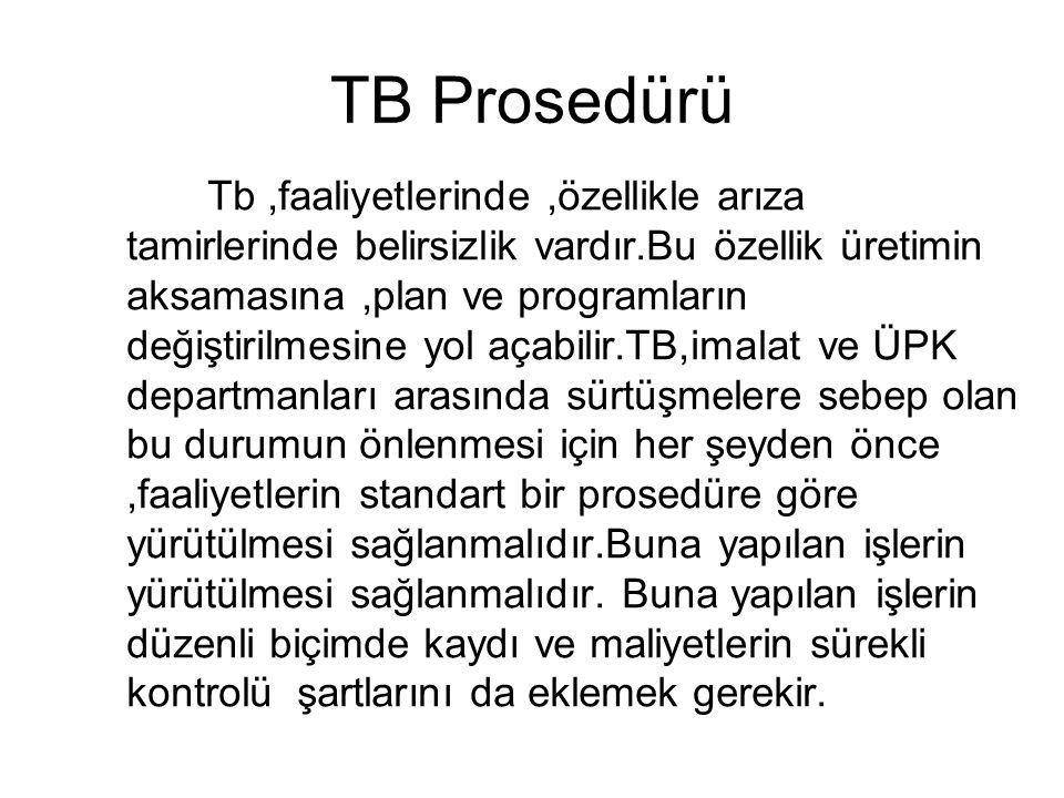 TB Prosedürü