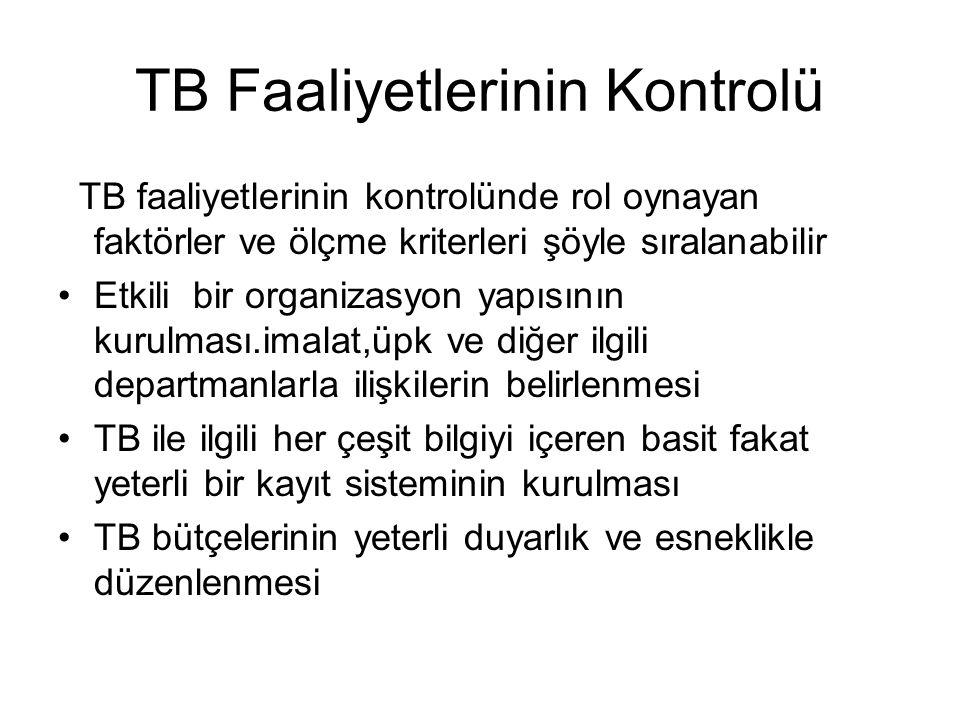 TB Faaliyetlerinin Kontrolü