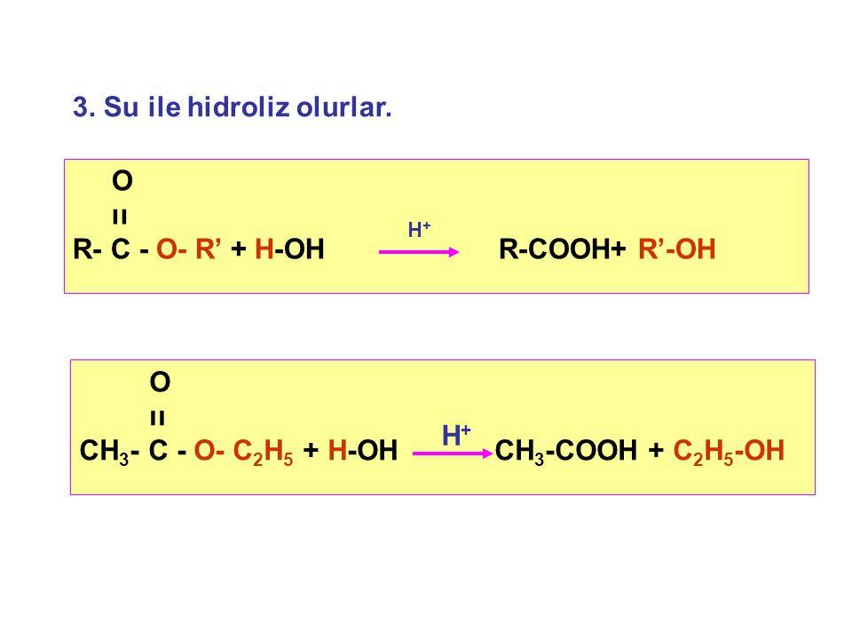 3. Su ile hidroliz olurlar.