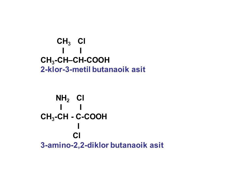 2-klor-3-metil butanaoik asit