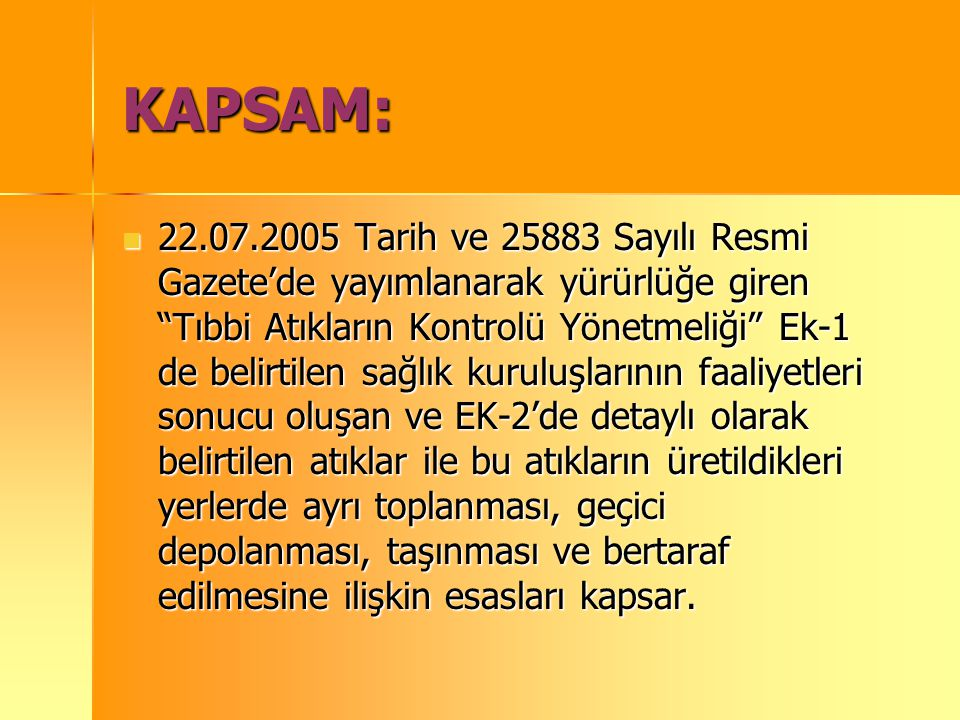 KAPSAM: