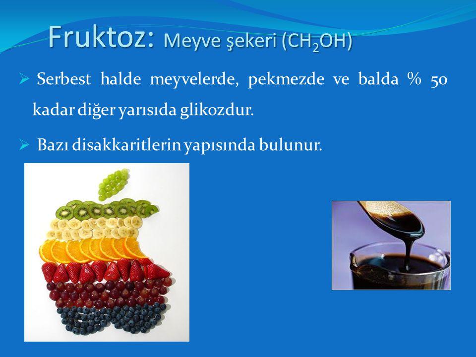Fruktoz: Meyve şekeri (CH2OH)