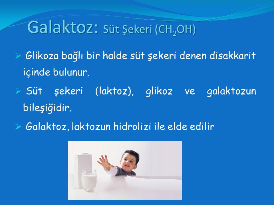 Galaktoz: Süt Şekeri (CH2OH)