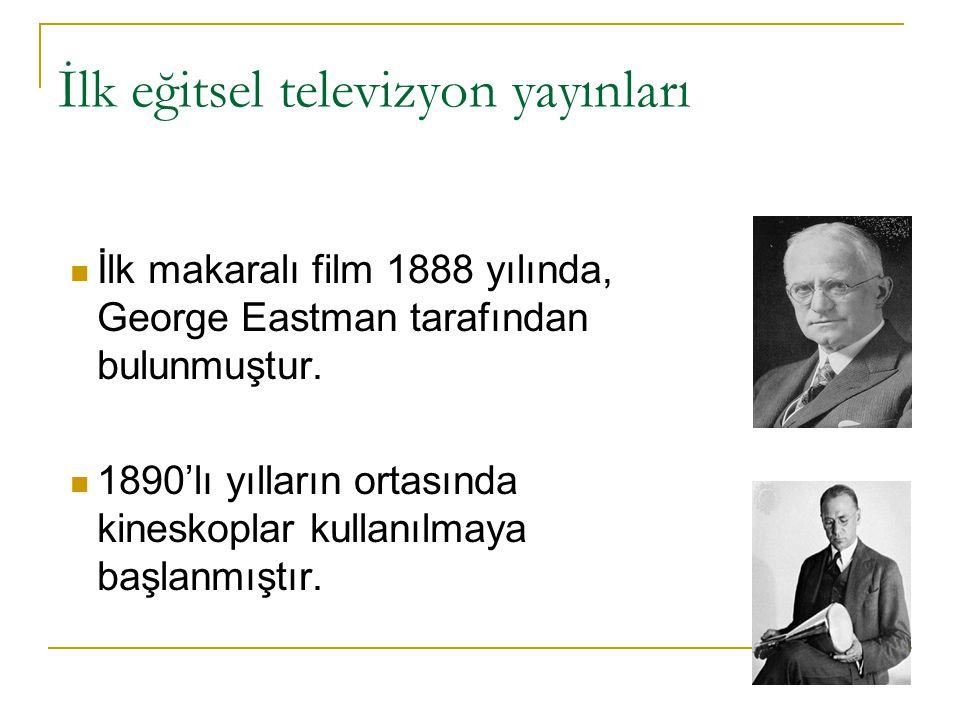 İlk eğitsel televizyon yayınları