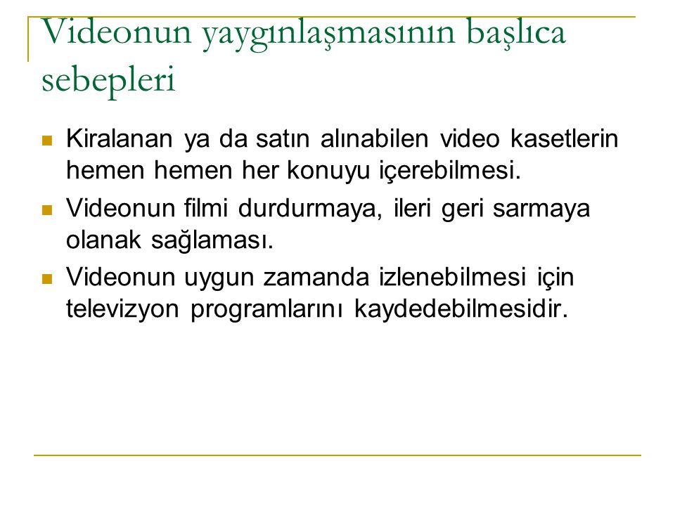 Videonun yaygınlaşmasının başlıca sebepleri