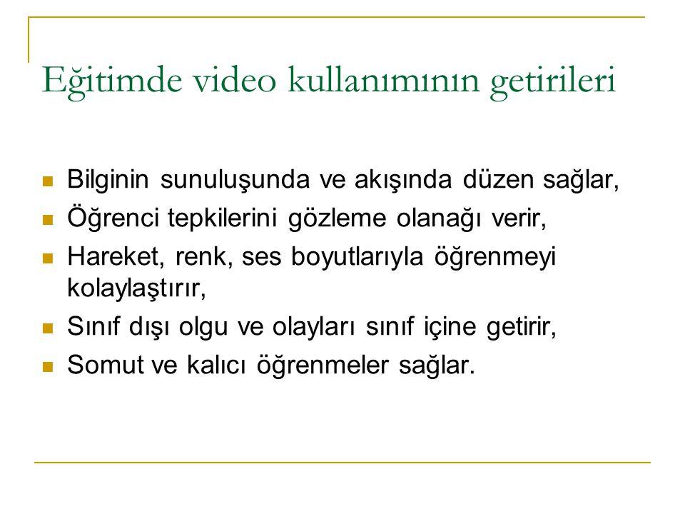 Eğitimde video kullanımının getirileri