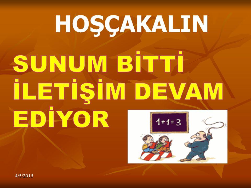 HOŞÇAKALIN SUNUM BİTTİ İLETİŞİM DEVAM EDİYOR 4/9/2017