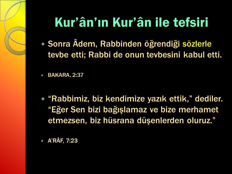 Kur'ân'ın Kur'ân ile tefsiri