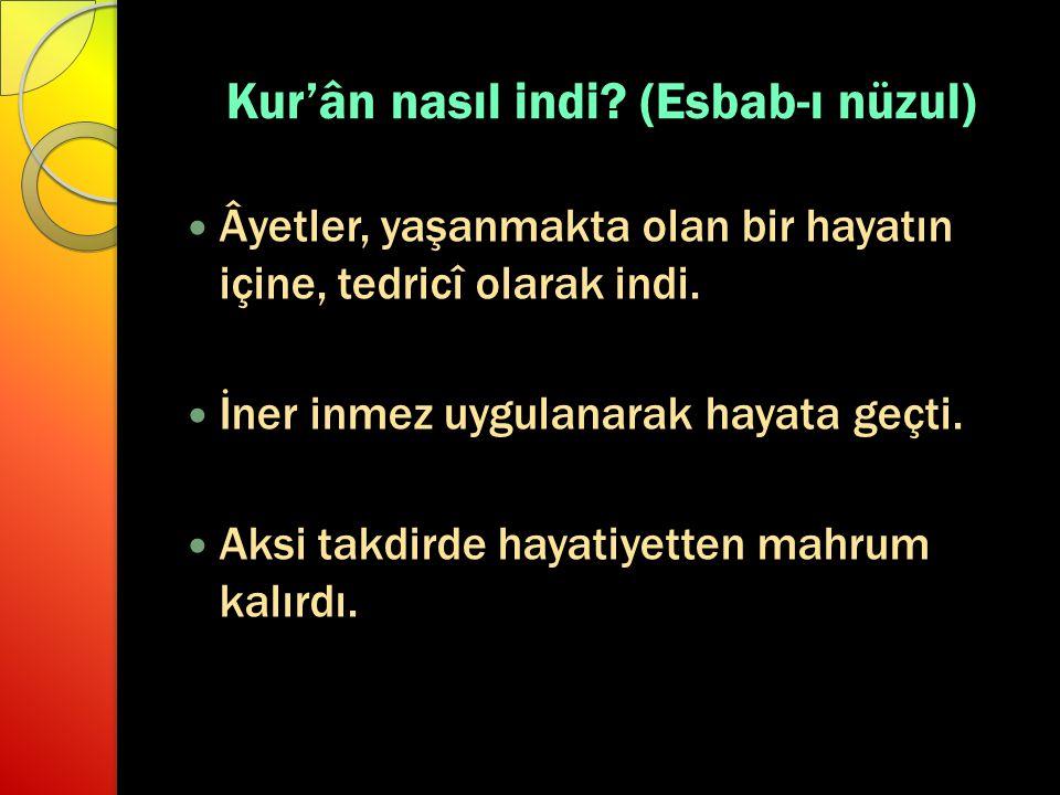 Kur'ân nasıl indi (Esbab-ı nüzul)