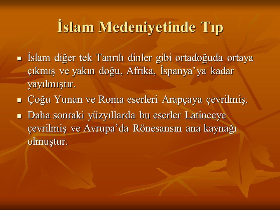 İslam Medeniyetinde Tıp