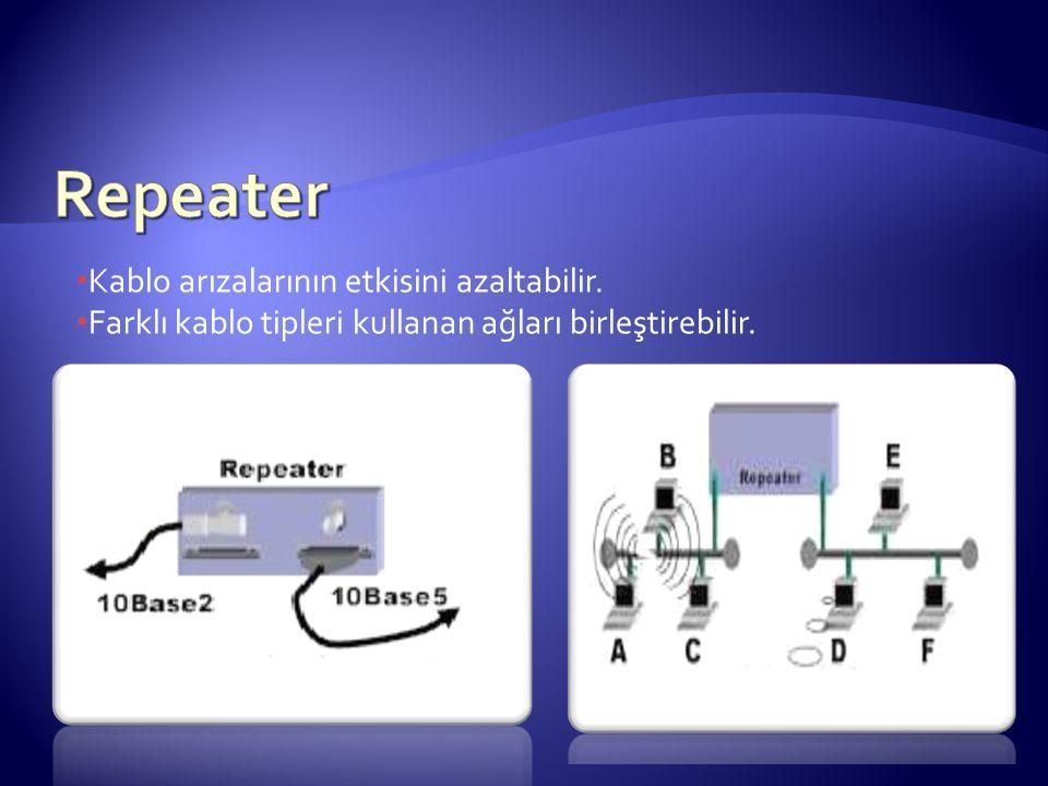 Repeater Kablo arızalarının etkisini azaltabilir.