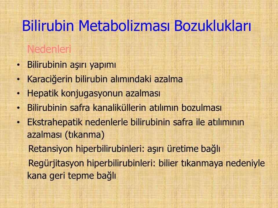 Bilirubin Metabolizması Bozuklukları